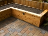 Raised cedar bed with landscape lighting - Ballard, Ecoyards.