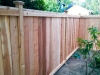 Cedar fence, Whittier Heights, Seattle.
