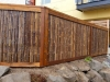 Fence with bamboo panels and dark stain - Ballard, Ecoyards.com