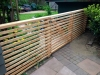 Cedar fence with horizontal panels, Ravenna, Seattle.