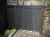 Cedar fence and gate with dark stain, Laurelhurst, Seattle - Ecoyards.