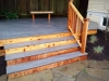 Trex deck with cedar trim - South Seattle, Ecoyards.com
