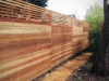 Horizontal fence with trellis - Wallingford, Ecoyards.com