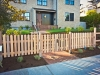 Picket Fence with transparent stain - Broadmoor, Ecoyards.com
