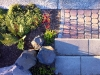 Roman Pisa steps, Old Dominion pavers, basalt columns - West Seattle, Ecoyards.