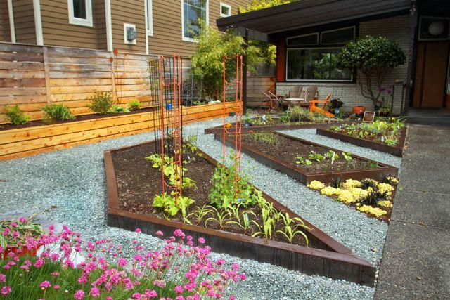 Raised planter beds ecoyards for Modern garden beds