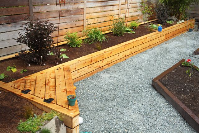 Raised Garden Bed With Cedar Siding   West Seattle, Ecoyards.