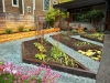 Raised garden beds with mid-century modern home - West Seattle, Ecoyards.