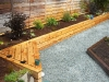 Raised garden bed with cedar siding - West Seattle, Ecoyards.