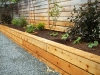 Raised garden bed with cedar siding, West Seattle, Ecoyards.