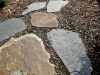 Slate stepping stone pathway - Seattle, Ecoyards.
