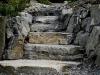 Ledgestone steps - Mercer Island, Ecoyards.