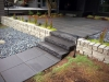 Black granite steps, paver entrance, granite wall, Laurelhurst, Seattle - Ecoyards