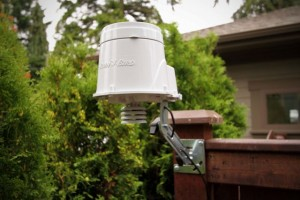Weather sensor for smart irrigation controller, Seattle, Ecoyards.