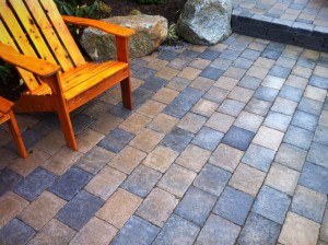 Roman Cobblestone, paver patio, West Seattle, Ecoyards Lawn and Landscape